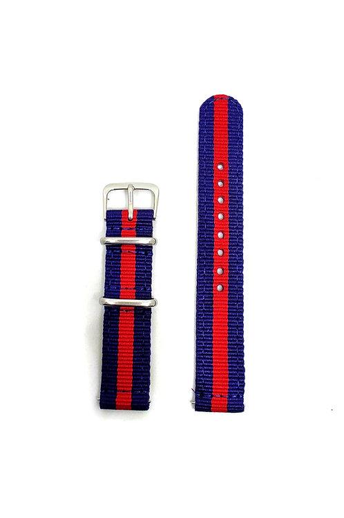 2 PC's Nylon Strap Navy Blue - Red
