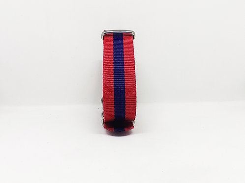 Nato Strap Red-Dark Blue