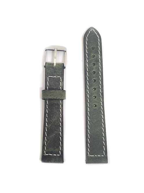 Leather Strap Olive Green