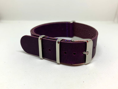Leather Nato Purple