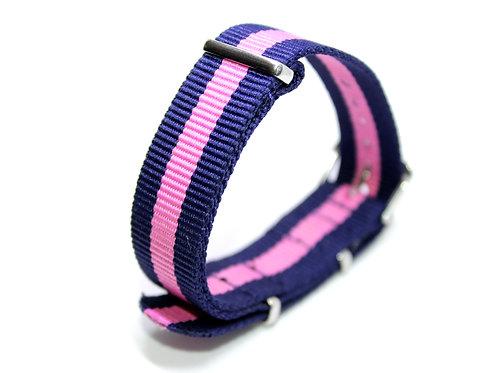 Nato Strap Dark Blue-Pink