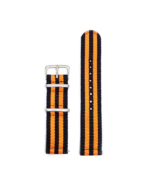 2 PC's Nylon Strap Black - Orange