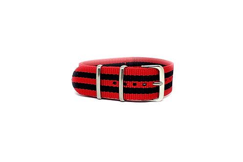 NATO Strap Red -  Black