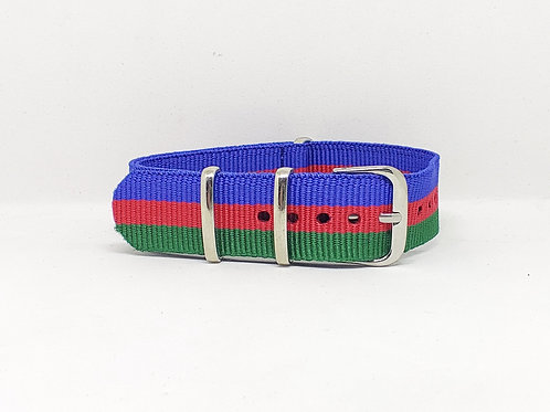 NATO Strap Blue-Red-Green