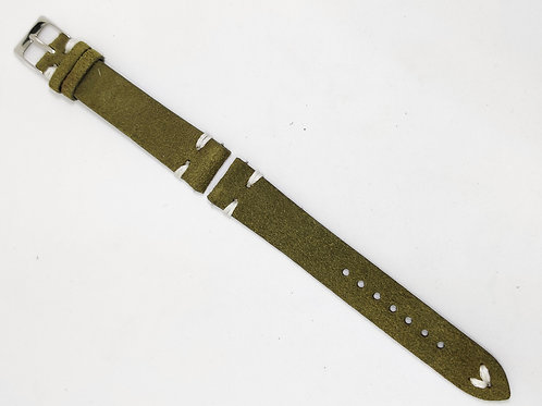 Suede Leather Olive Green