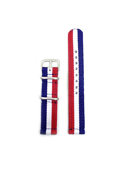 2 PC's Nylon Strap France Flag