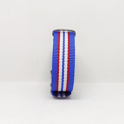 NATO Strap Blue-Red-White