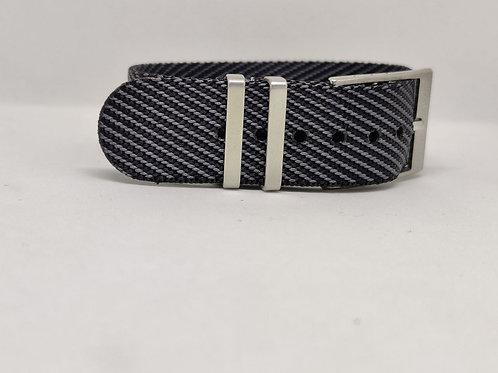 Seat Belt NATO Black-Grey