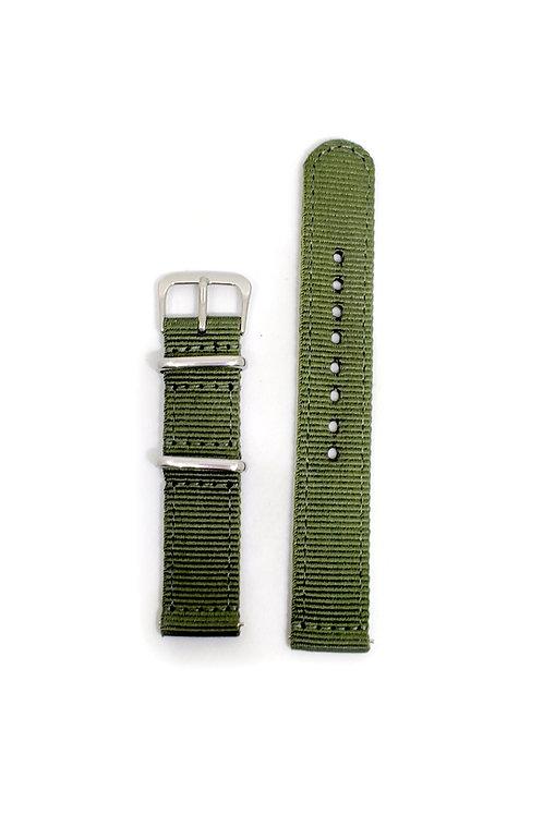 2 PC's Nylon Strap Olive Green