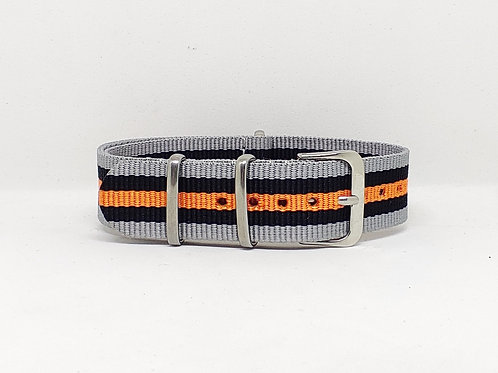 NATO Strap Grey-Black-Orange