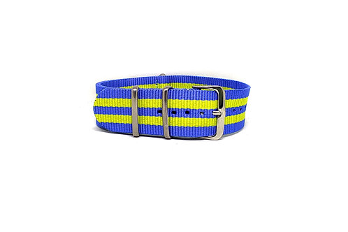 NATO Strap Sky Blue - Yellow