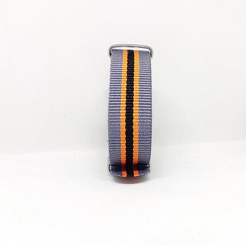 NATO Strap Grey-Orange-Black