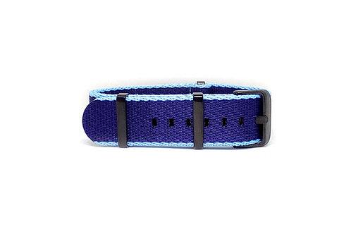 Seat Belt NATO Navy Blue - Sky Blue
