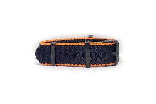 Seat Belt NATO Black - Orange