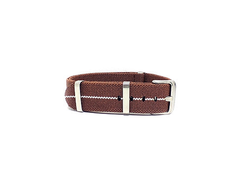 Elastic Strap Brown - White