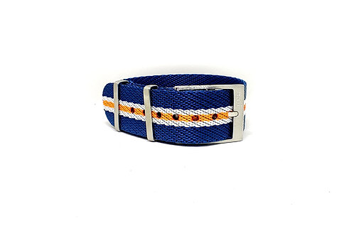 Seat Belt NATO Blue-White-Orange
