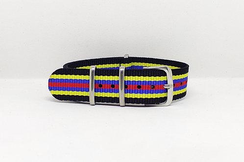 NATO Strap Black-Yellow-Blue-Red