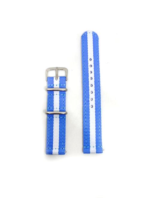 2 PC's Nylon Strap Sky Blue - White