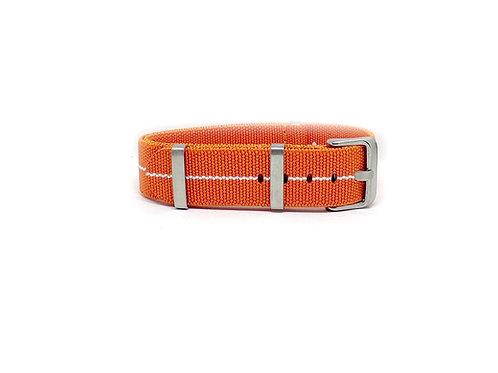 Elastic Strap Orange - White