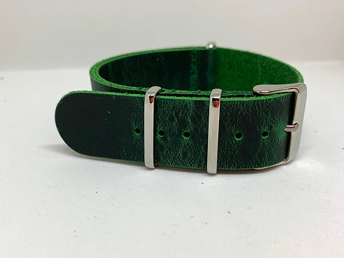Leather Nato Green