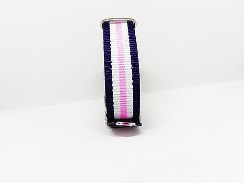 Nato Strap Dark Blue-White-Pink