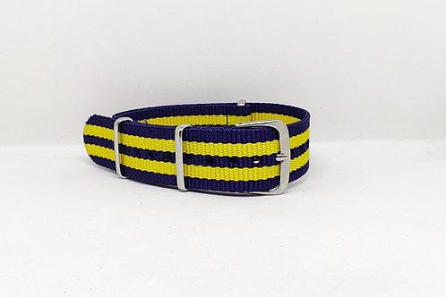NATO Strap Dark Blue-Yellow