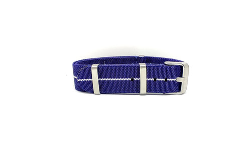 Elastic Strap Navy Blue - White