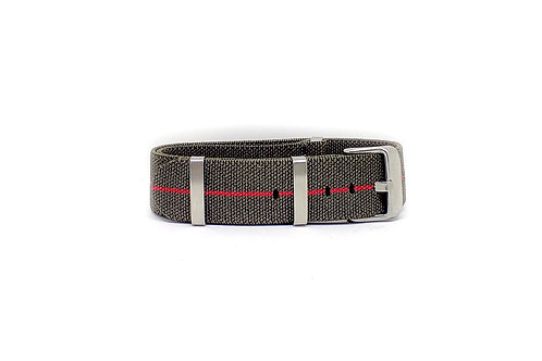 Elastic Strap Olive Green - Red