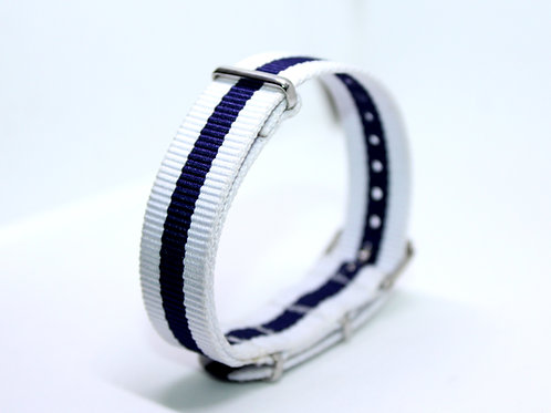 Nato Strap Dark Blue-White