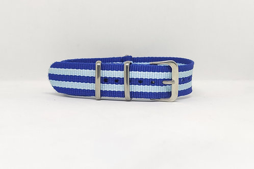 NATO Strap Blue-Light Blue