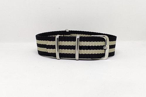 NATO Strap Black-Khaki