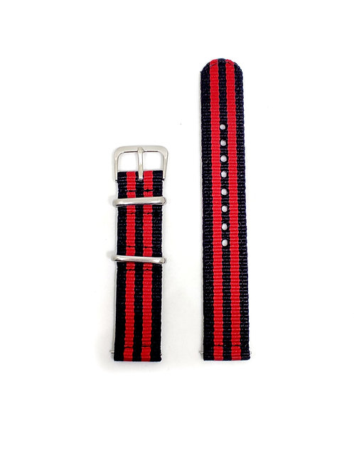 2 PC's Nylon Strap Red - Black