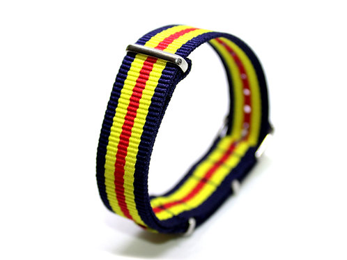 Nato Strap Black-Yellow-Red