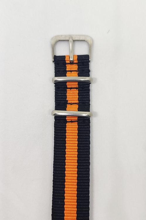 Nato Strap Black-Orange