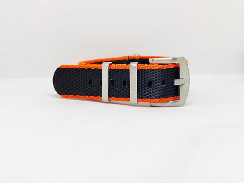 Seat Belt Nato Black- Orange