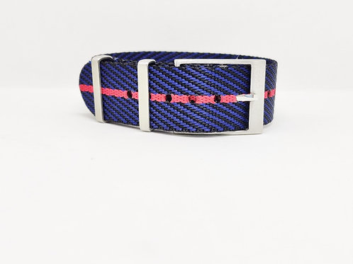 Seat Belt NATO Navy Blue - Orange