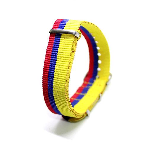 Nato Strap Yellow-Blue-Red