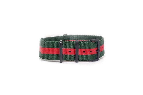 NATO Strap Green - Red
