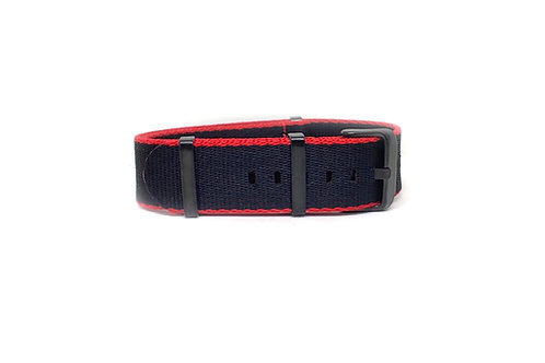 Seat Belt NATO Black - Red