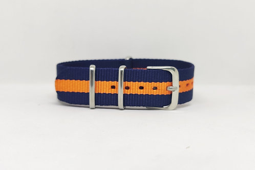 NATO STRAP Navy Blue - Orange