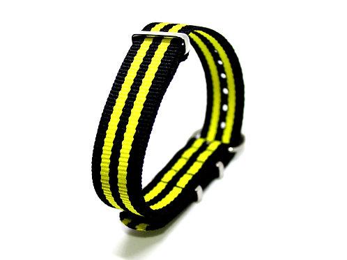 Nato Strap Black-Yellow