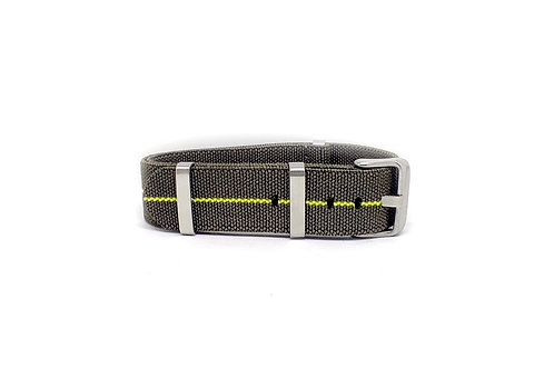 Elastic Strap Olive Green - Yellow