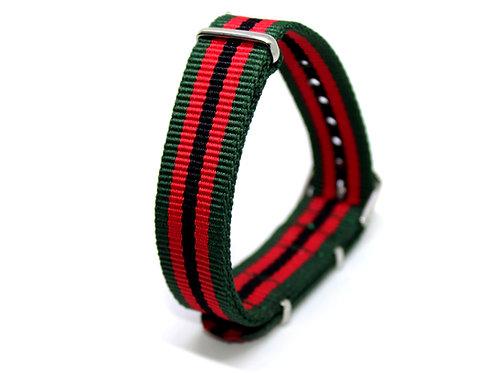 Nato Strap Green-Red-Black