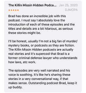 Killin Missin Hidden podcast five star review
