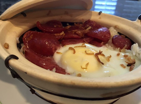 Crispy Rice in a Clay Pot by Victor Hong