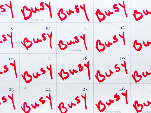 Summer starts to slip away and the calendar reaches max capacity........