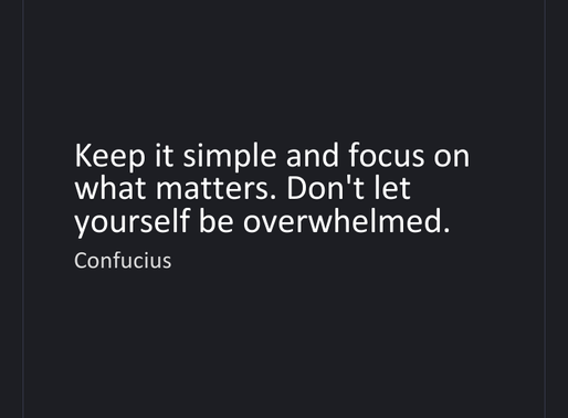Keepin' it Simple