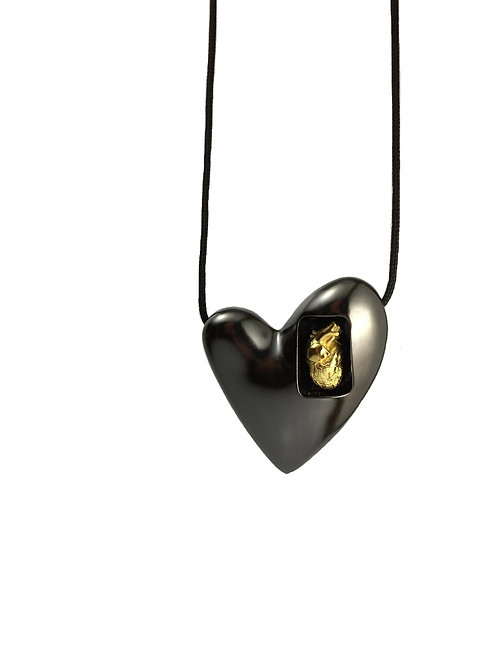 Heart with Heart - Black