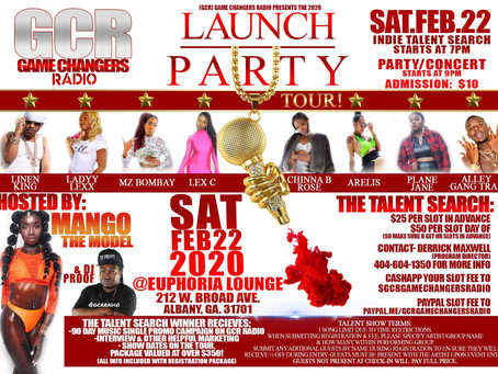 GAME CHANGERS RADIO LAUNCH PARTY TOUR AND SHOWCASE