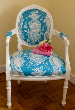 Strawberry Toile Chair